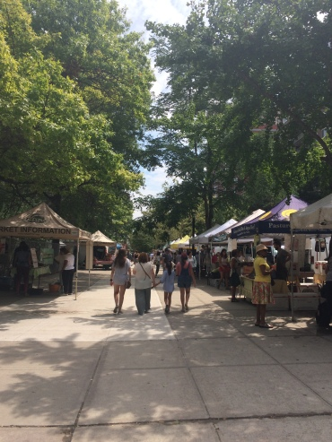 Friday farmer's market on west 97th street. The other one we like is on west 78th on Sunday mornings